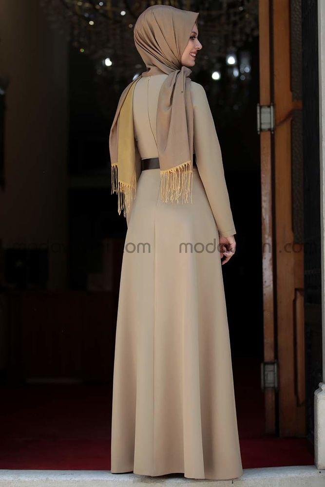 Ada İncili Elbise Vizon - SMR1002