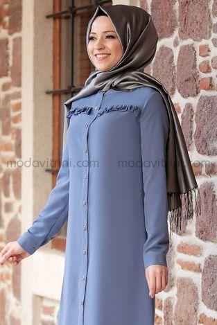 Al-Marah Akasya Tunik İndigo - Thumbnail