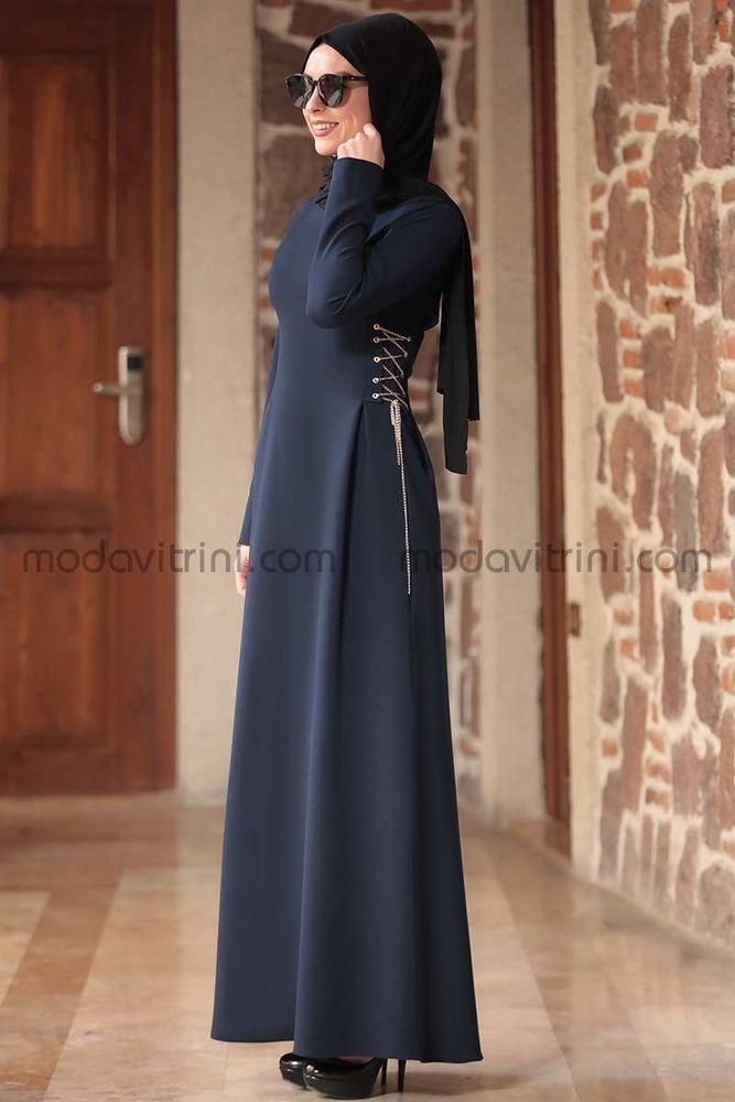 Beste Elbise Lacivert - RNZ1046