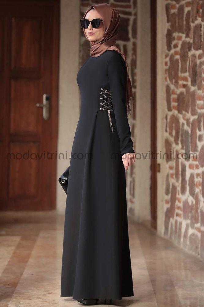 Beste Elbise Siyah - RNZ1046