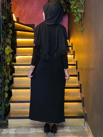 Ceketli Triko 3lü Takım Siyah & Taba - MDV5012 - Thumbnail