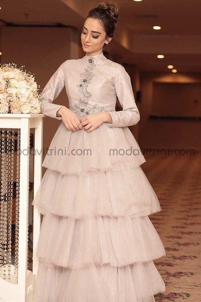 24ed231cb Cindy Evening Dress - Grey - MDC1016