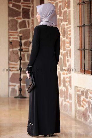 Günay Elbise Siyah - EMS1044 - Thumbnail
