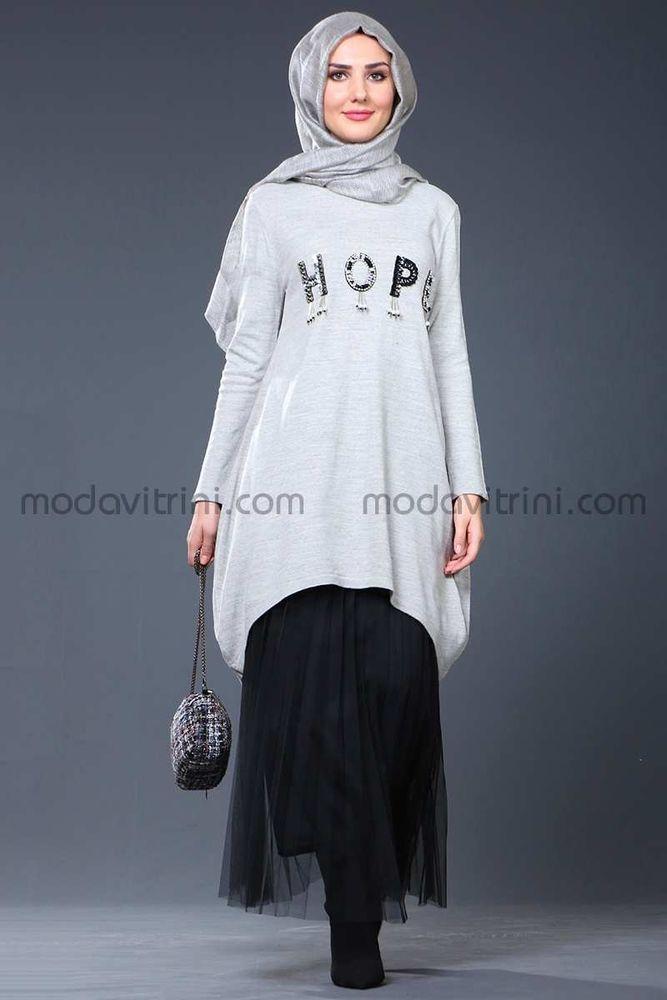 Hope Triko Tunik Gri - SMF1040