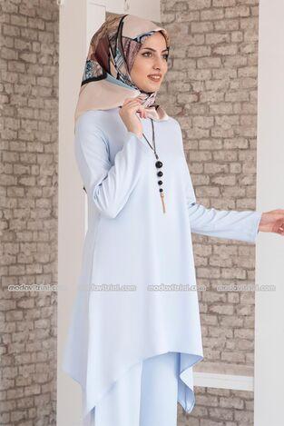 Huzur Takım Bebe Mavi - MDV1033 - Thumbnail