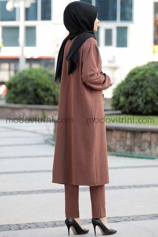 Lady İkili Takım Kahve - PNN1027 - Thumbnail
