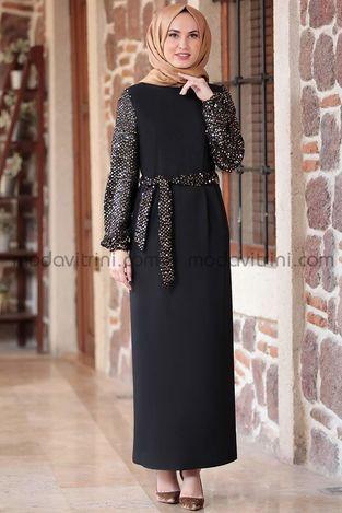 Lal Elbise Siyah & Gold - EMS1050 - Thumbnail