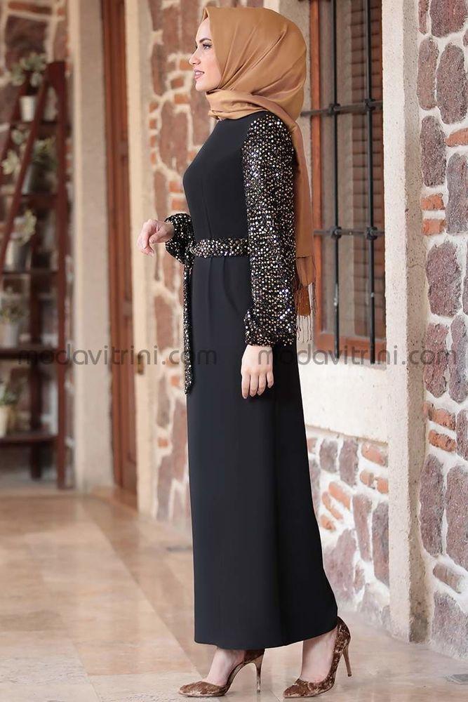 Lal Elbise Siyah & Gold - EMS1050
