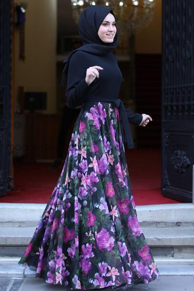 Manolya Şifon Elbise Leylak - MDV1009