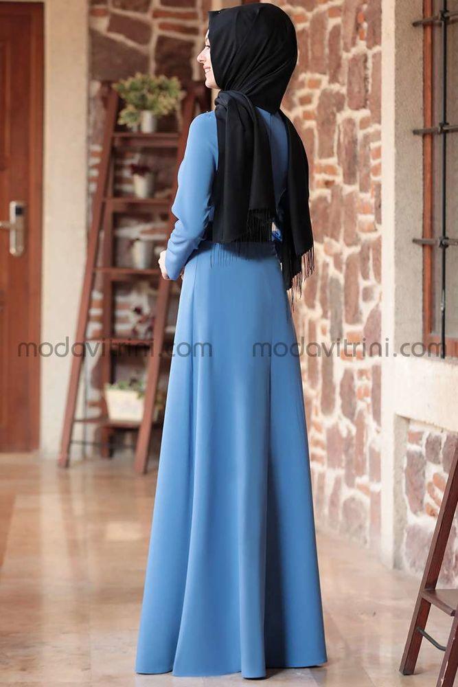 Nare Elbise Bebe Mavi - SMR1005