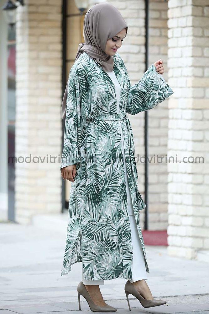 Palmiye Kimono Yeşil - MDV2028