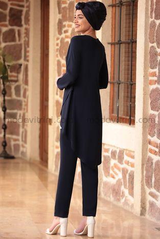 Pantolonlu İkili Takım Lacivert - PNN1009 - Thumbnail