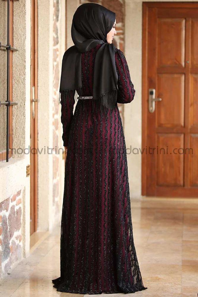 Pırlanta Abiye Elbise Bordo