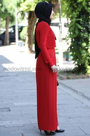 Rana Zen Zara Tulum Kırmızı - Thumbnail