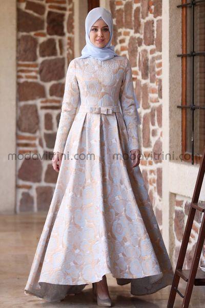info pour ea0c1 7c5cd Robe de Soirée à Brocart - Rose Conçu - MDV1021