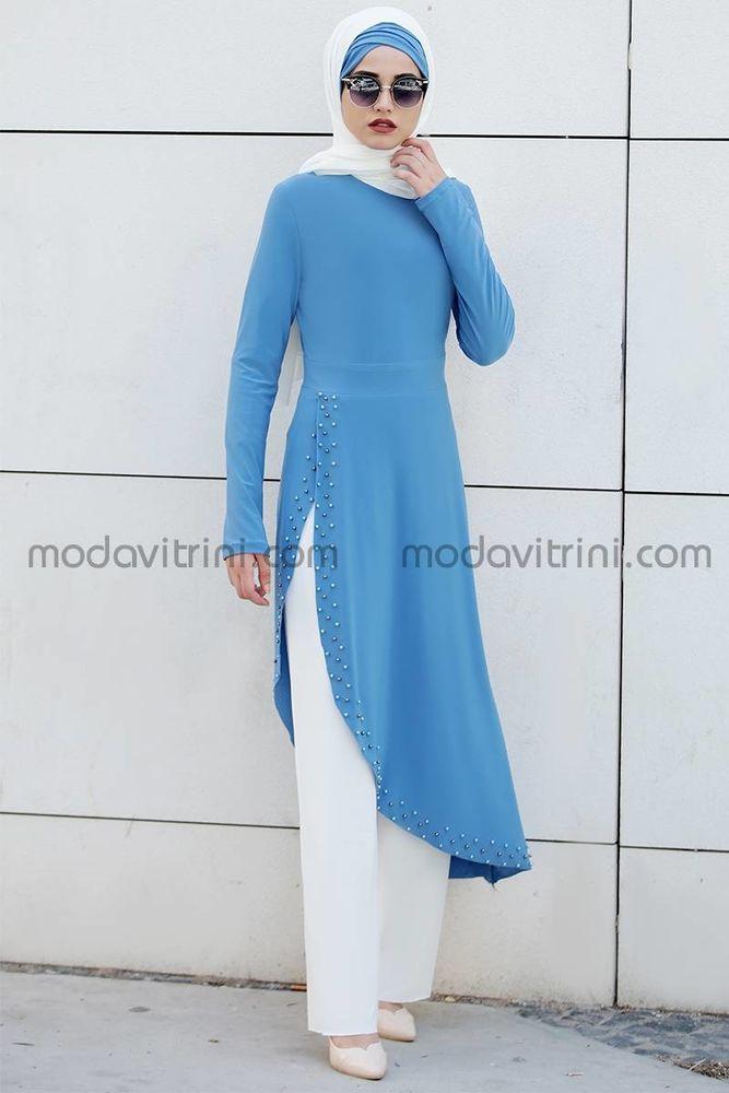 d613deef050 robe en perles - robe de tailleur - couleur bleu - PNN1011
