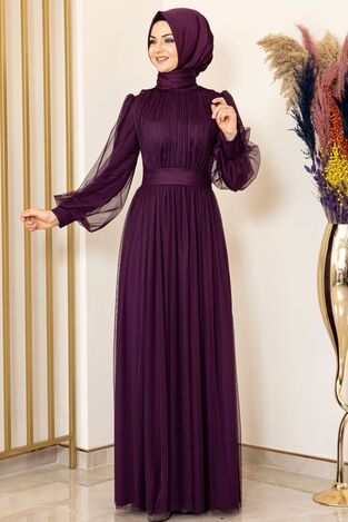 Sükse Abiye Mor - Fashion Showcase Design - FSC2079 - Thumbnail