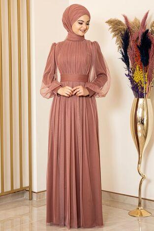 Sükse Abiye Soğan Kabuğu - Fashion Showcase Design - FSC2079 - Thumbnail