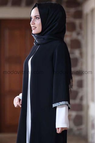 Taş Detay Tunik Siyah - MDV2019 - Thumbnail