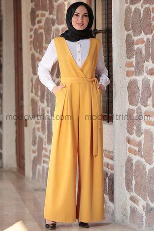 Tulum & Gömlek Takım Hardal - MDV5020 - Thumbnail