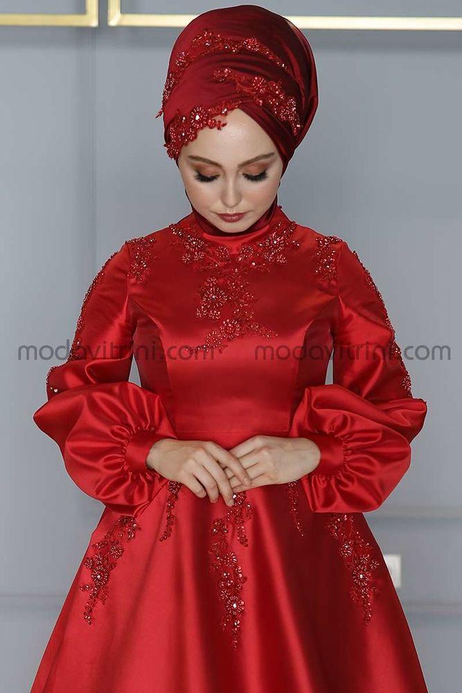 Yasemen Robe De Soiree Rouge Mdc2024